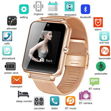 New Smart Watch Metal Strap Bluetooth Wrist Smartwatch Support Sim TF Card Android&IOS Watch Multi-languages relogio inteligente(China)