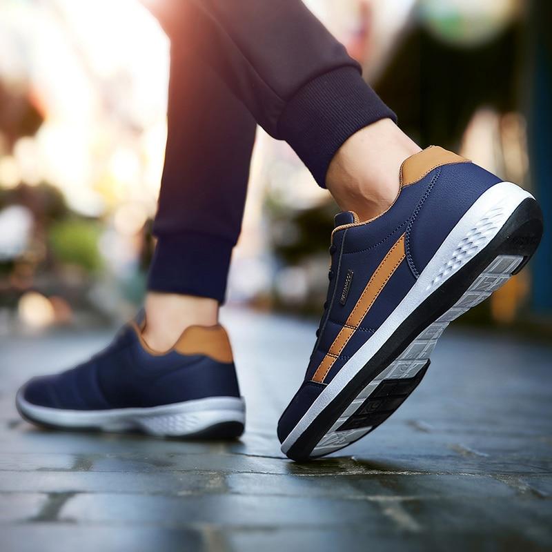 2020 cuir hommes chaussures de luxe marque angleterre tendance chaussures décontractées hommes baskets respirant loisirs chaussures pour Homme Chaussure Homme