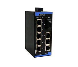 8 portu 9 przełącznik portu Ethernet przemysłowy 12V24V Interchanger montaż na szynie DIN