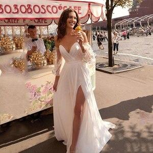 Image 1 - Lorie Váy Cưới Công Chúa Người Yêu Appliqued Tay Phồng Cô Dâu Đầm Chữ A Hở Lưng Boho Áo Cưới