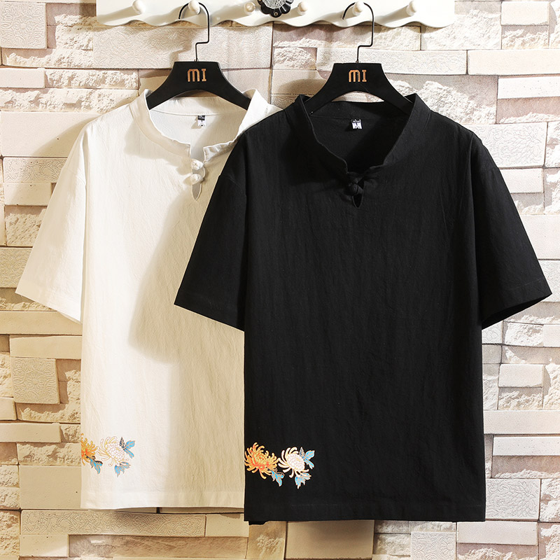 Short Sleeve T Shirt Men 2020 Chinese Style Summer Loose Tshirt Top Tees HIP HOP PUNK ROCK Fashion Clothes Plus Size M-4XL 5XL