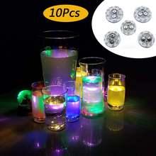 10 шт подставки со светодиодной подсветкой для бутылок