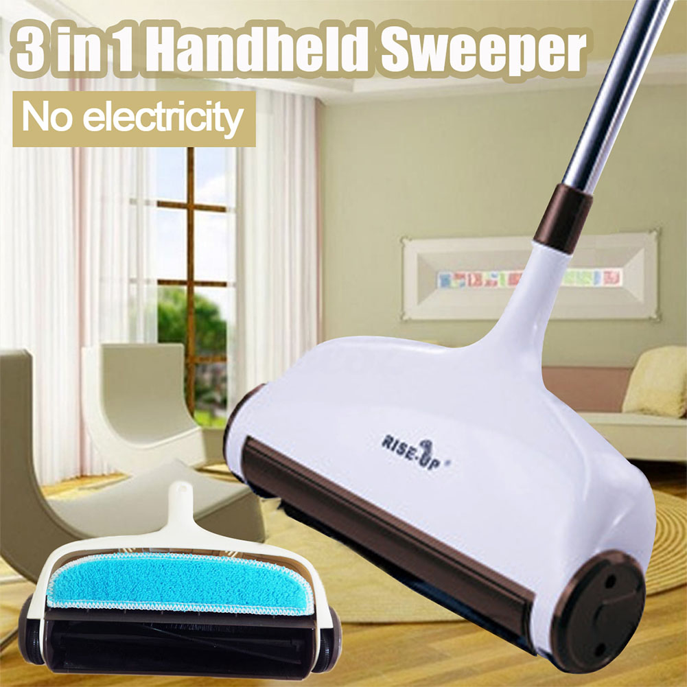 Dust Removal Hair Floor Cleaning Carpet Household Handheld Sweeper Cordless Broom Anti Scratch Mop Multifunction Water Absorb