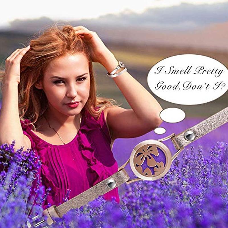 ZP-BS065-9 Diffuser Leather Locket Bracelet
