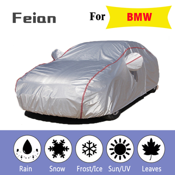 car cover Oxford cloth waterproof Car clothes With side door Four seasons cover Reflective strips Hatchback sedan SUV for BMW