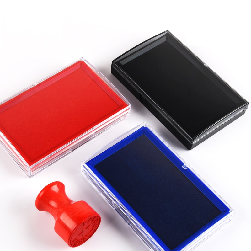 Oil Base Red Blue Black Color Ink Pad For Stamp Journal Inkpad Office Finance Accessories School Teacher DIY Notebook A6659