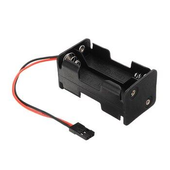 Aa tamanho 2 slot de energia bateria armazenamento caso caixa titular para rc carro/avião modelos receptor 4 * aa bateria caixa compatível jr 3 pinos