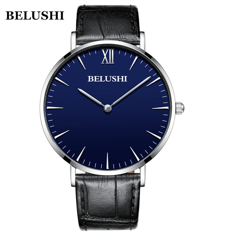 BELUSHI Ultra-thin Watch Men And Women Couple Models Fashion Clock Milan Stainless Steel Student Watch Trend Accessories Watch