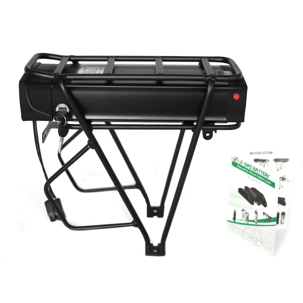 support arrière Batterie au Lithium pour support arrière de vélo électrique, 48V, 20ah, 18650 W, 1000 cellules Samsung