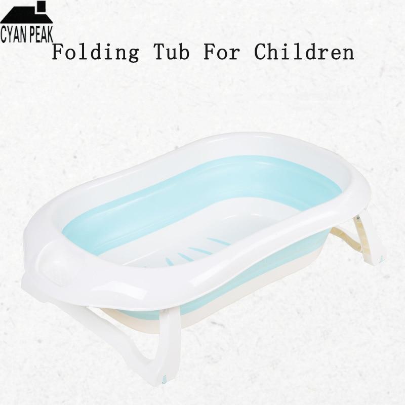 Écologique nouveau-né bébé pliant baignoire Portable pliable enfants lavage baignoire pliante baignoire antidérapante sécurité Spa baignoire