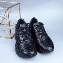 fanzhunxing новый крокодиловой кожи импортируется из Таиланда мужской обуви большой выбор мода черный натуральная кожа