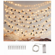 2020 new year merry christmas decorations for home creative wooden crafts christmas tree holiday decoration diy pendant navidad Copper Wire Photo Clip LED String Lights Christmas Decorations for Home Xmas New Year Decoration Christmas Tree Decor Navidad