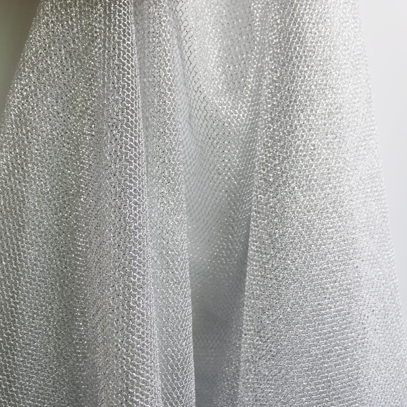 Gold and silver metallic net