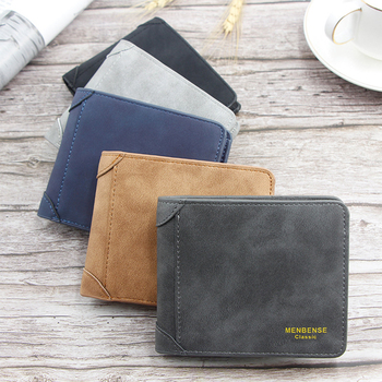 Men Wallet Leather ID Credit Card Holder Clutch Coin Purse Luxury Brand Wallet Frosted Short Wallets 2019 Men Wallet men women leather credit card holder case card holder wallet business card female wallet purse luxury clutch wallets