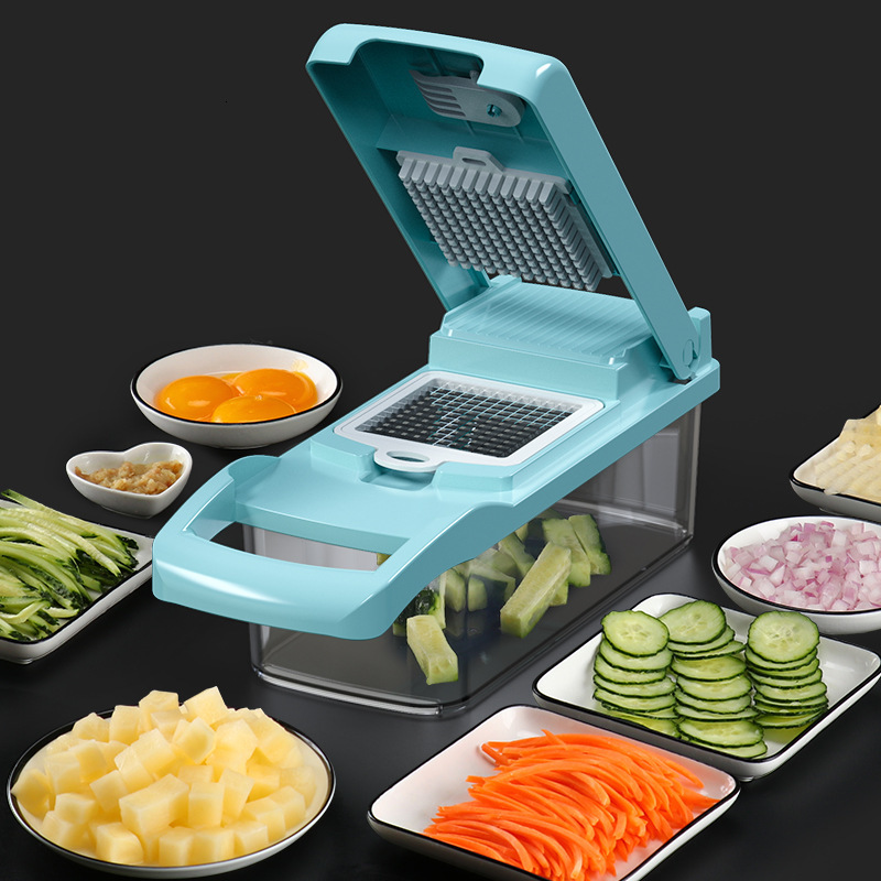Cut Vegetables Artifact Slicer Grater Cutter Peeler Multifunctional Potato Peeler Carrot Grater Drain Basket Kitchen Tool