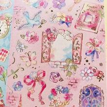 1 лист Kawaii Золотая фольга серии сказок наклейки ручка Декор блокнот декоративная этикетка-наклейка подарок для детей