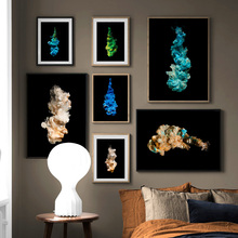 Color Abstract Smoke Face Phosphor HD Wall Art Canvas Painting Nordic Posters And Prints Pictures For Living Room Decor