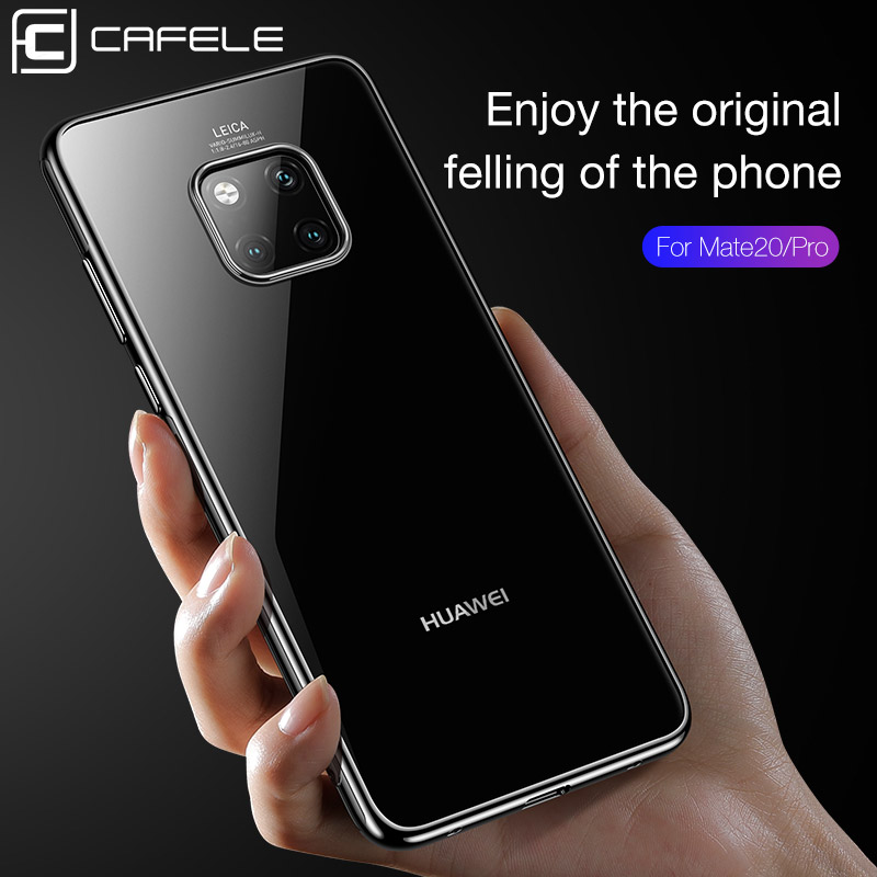 Купить с кэшбэком CAFELE Luxury Plating Case For Huawei Mate 20 Pro 20X Transparent Ultra Thin Soft TPU Phone Case Cover For Mate 20 X 20Pro