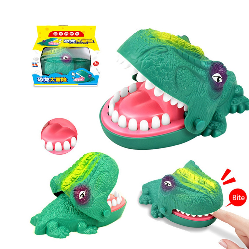Fun Bite Finger Game Prank Toy Biting Hand Dinosaur Desktop Interaction Toys Crocodile Jokes Mouth Joke Funny Toy For Kids Gifts