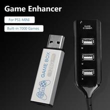 拡張ハブ 128 グラムゲームエンハンサー優れた abs プラスチック長時間耐久性のある内蔵 7000 ゲーム PS1 ミニ dn ゲームボックス新加入