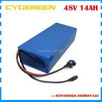750W 48V 14AH elektrische fahrrad batterie 1000W 48V lithium batterie verwenden für sanyo NCR18650GA 3500mah cell Kostenloser gewohnheiten gebühr-in Elektrofahrrad Akku aus Sport und Unterhaltung bei