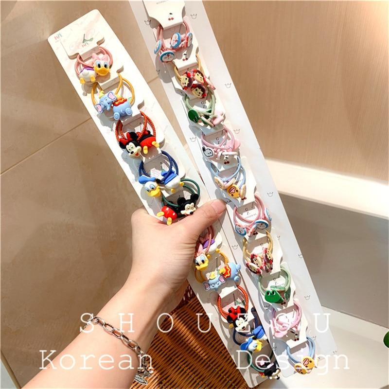 20PCS Lot Cartoon Rabbit Star Heart Hair Rope Tie Elastic Girl Mini Headdress CN