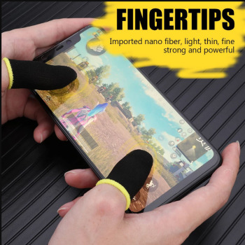 Gaming Finger Sleeve Game Controller Sweatproof Gloves Breathable Fingertips For Mobile Games Touch Screen Finger Cots Cover 1
