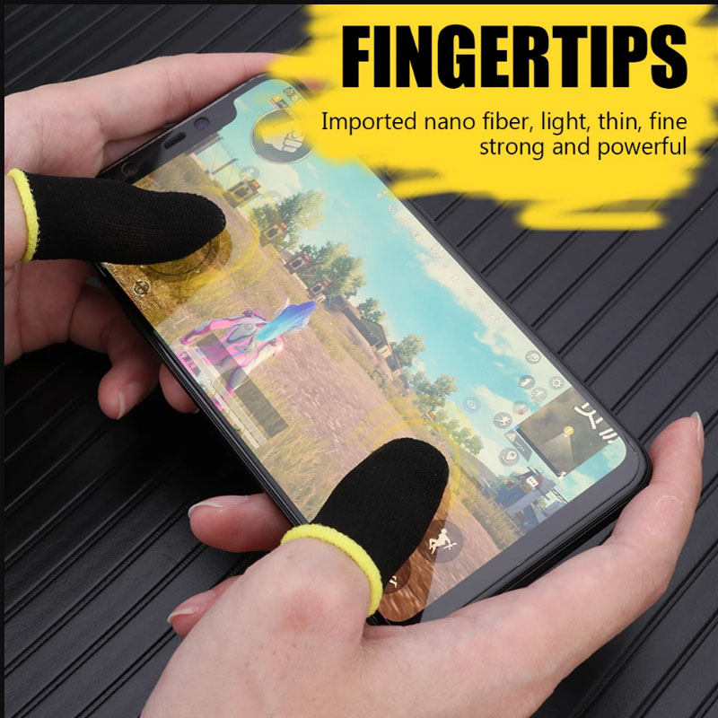 Gaming Finger Sleeve Game Controller Sweatproof Gloves Breathable Fingertips For Mobile Games Touch Screen Finger Cots Cover