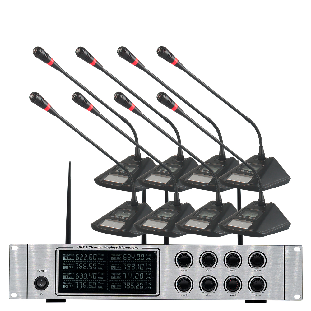 Wireless microphone system professional UHF wireless microphone 8-channel conference room speech conference microphone