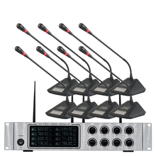 Wireless microphone system professional UHF wireless microphone 8-channel conference room speech conference microphone oupushi conference system 8 channel gooseneck uhf ppl wireless conference table microphone sound quality ceiling speaker