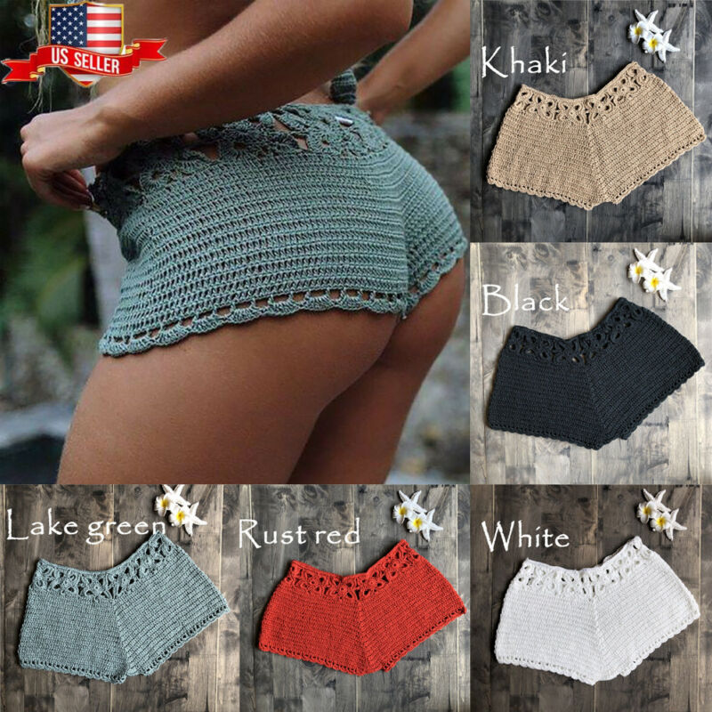 Womens Summer Mini Knit Ladies Casual Shorts Holiday New Quick Dry  Short Pants Trousers High Waist Short Lady's Women