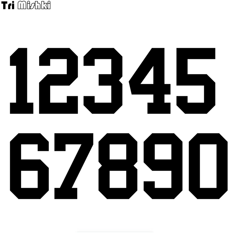 Tri Mishki HZX1183#  Racing Number Helmet Decals Car Sticker Funny Vinyl Decals Motorcycle Accessories Stickers