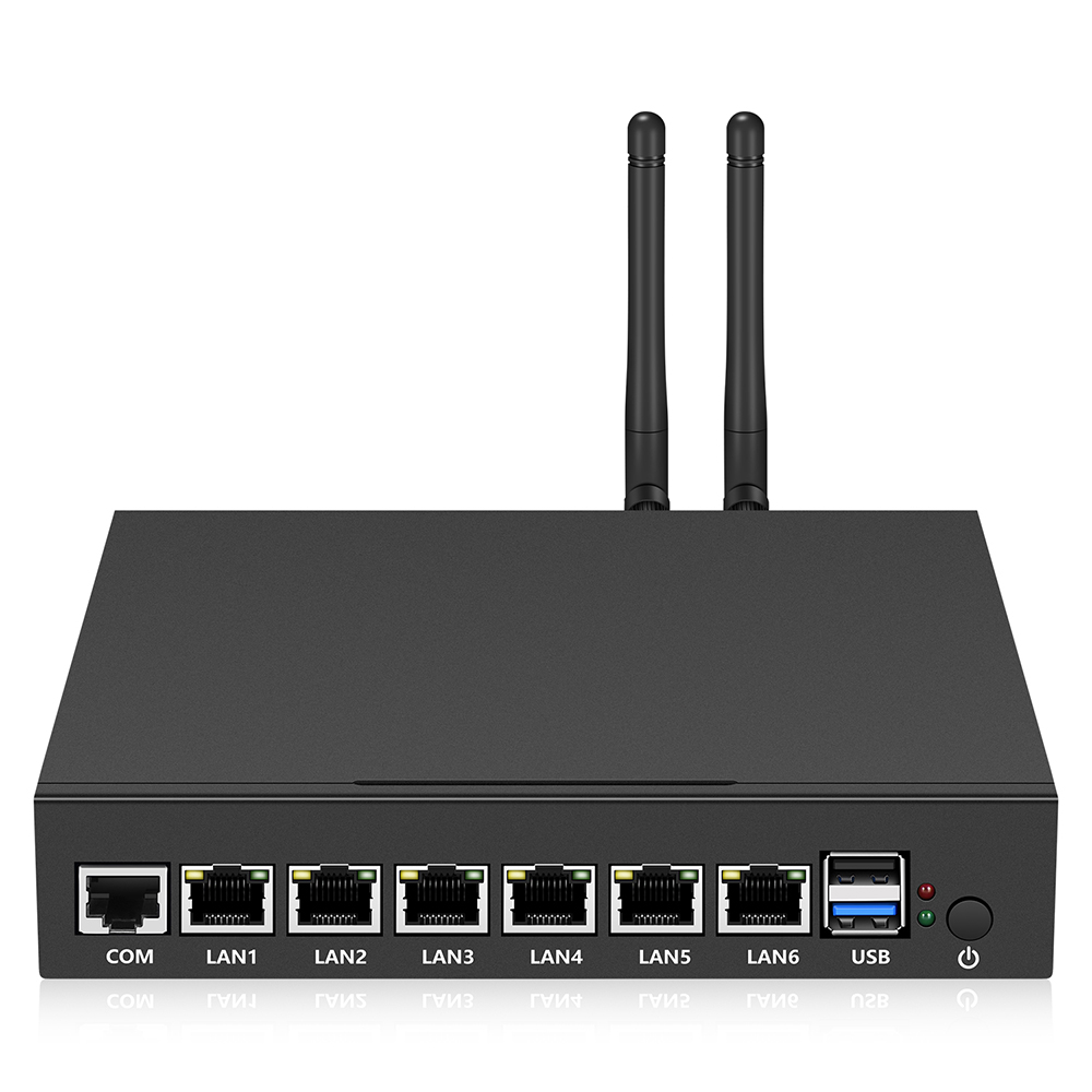 Firewall Appliance for Medium Network Intel Celeron J1900 Quad Cores 6*Gigabit Ethernet 300Mbps WiFi WAN/LAN Router Mini PC