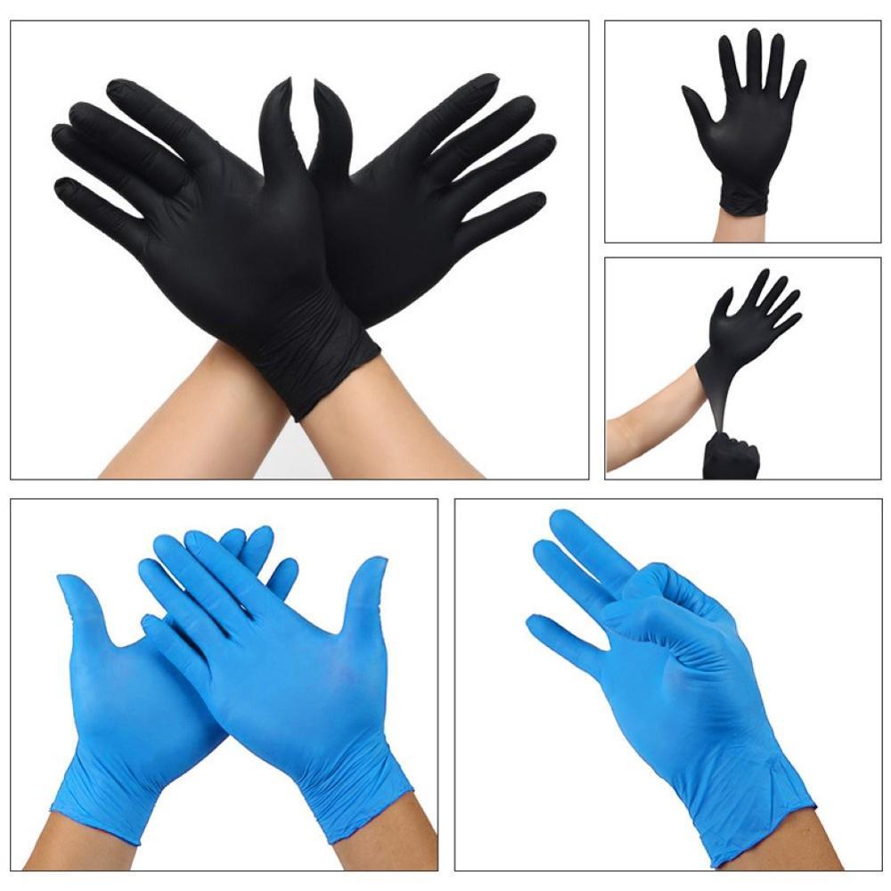 100PCS S/M/L/XL Black Purple Disposable Gloves Latex Dishwashing/Kitchen/Medical /Work/Rubber/Garden Gloves Universal