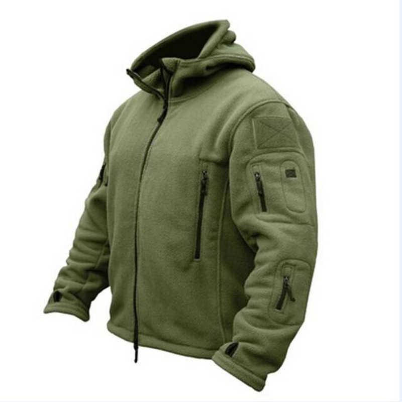 新軍事戦術屋外ソフトシェルフリースジャケット男性の軍ポーラテックスポーツ熱狩猟ハイキングスポーツパーカージャケット