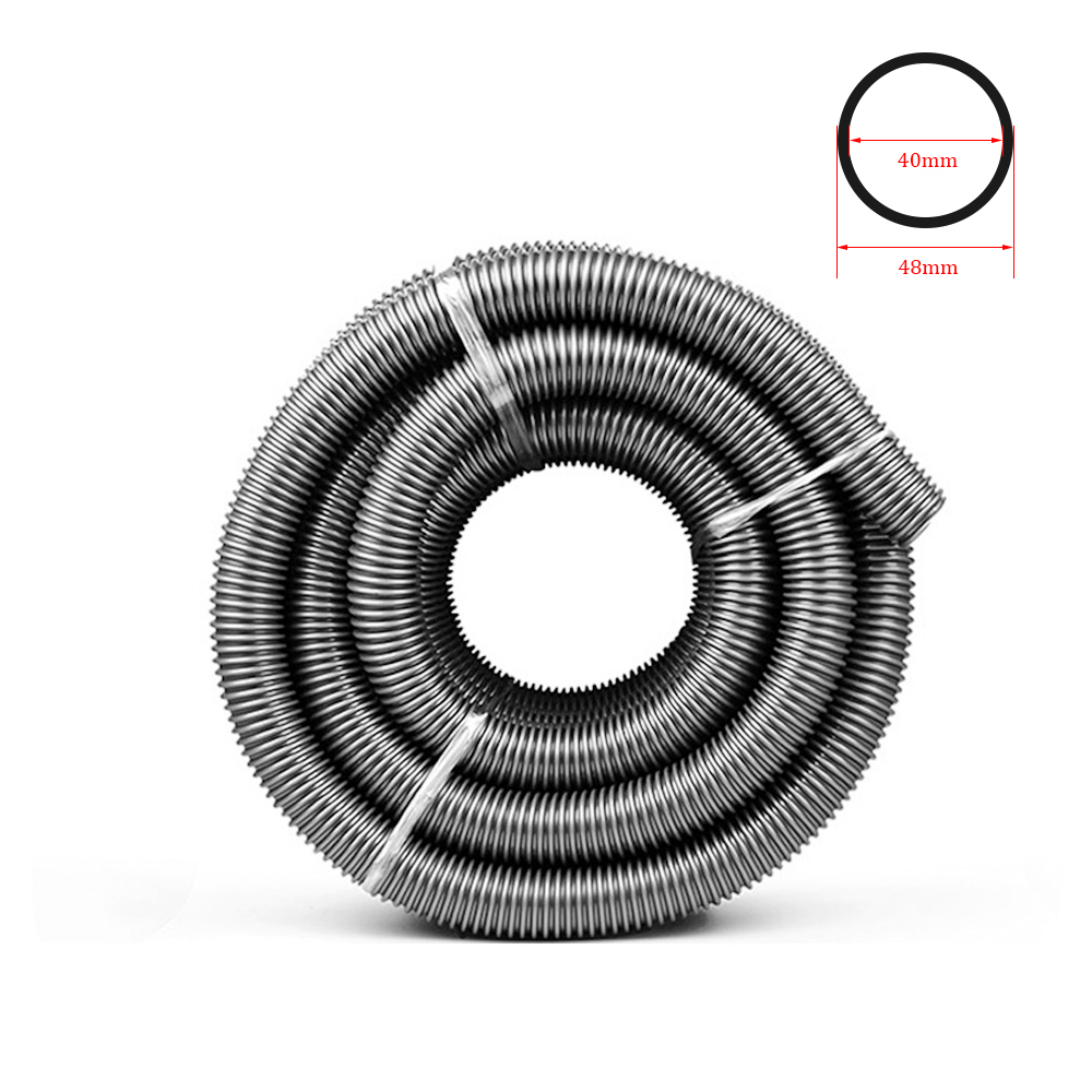 Inner 40mm Outer 48mm Vacuum Cleaner Hose Durable Vacuum Cleaner Part Soft Pipe Bellows Straws Industrial Thread Hose