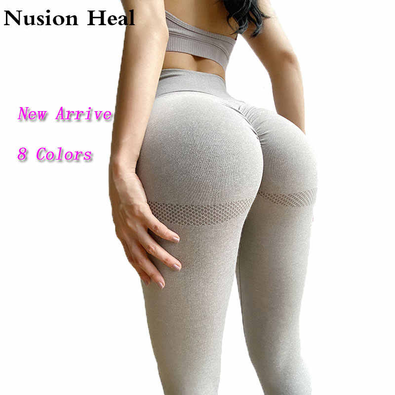Frauen Yoga Leggings Hohe Taille Push-Up-Leggings Sport Mädchen Gym Leggings Nahtlose Frauen Energie Legging Fitness Läuft Yoga Hosen