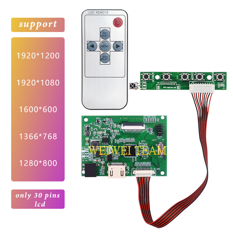 Hdmi Edp 30 Pins Universal Controller Board Support 10.1-17.3 inch LCD Screen 1280*800 1600*900 1366*768 1920*1080 1920*1200