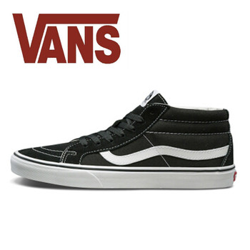 Original Vans Sk8 Hi Mid Back Shoes Man and Women Unisex High Mid Classic Sneakers Skateboarding Shoes VN0A391F6BT black