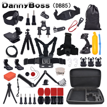 For Gopro Accessories Set for go pro hero 8 7 6 5 4 kit 3 way selfie stick for Eken h8r / for xiaomi for yi EVA case