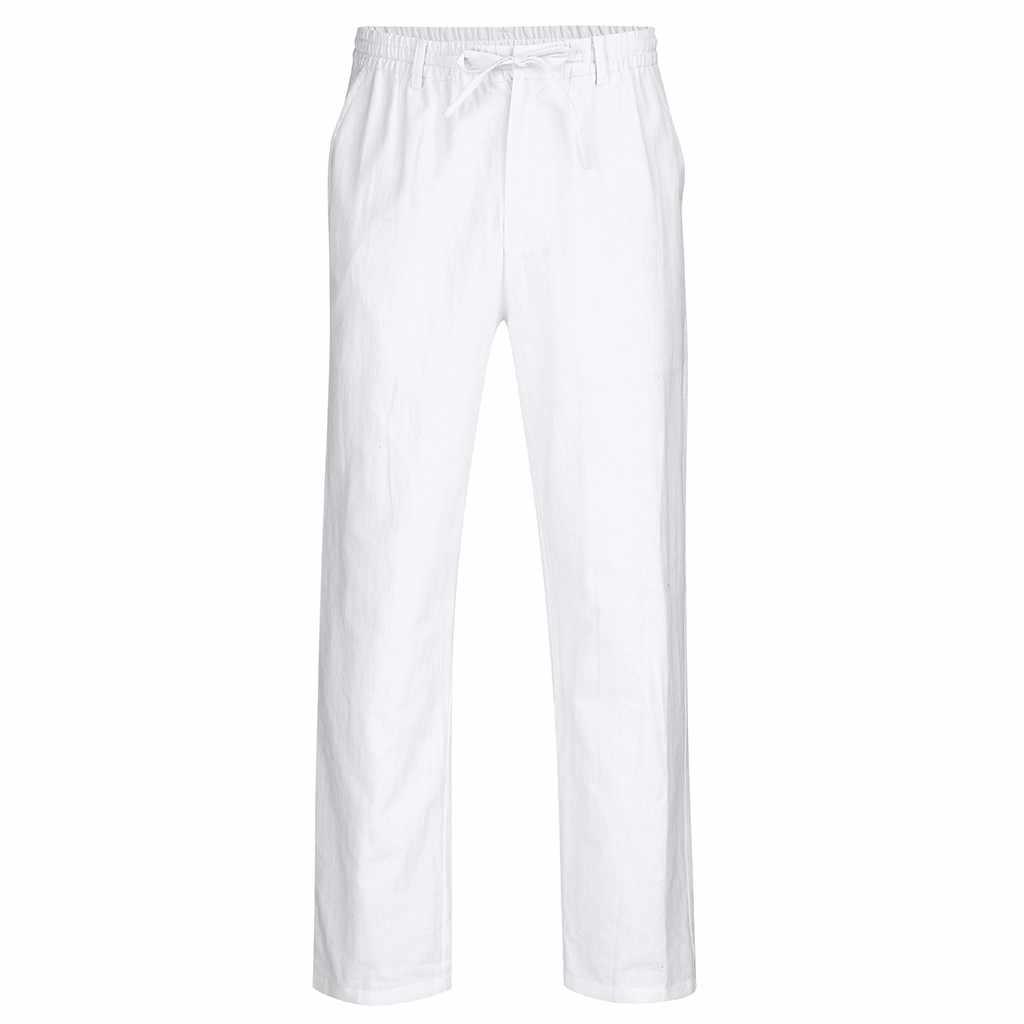 男性の弾性カジュアルパンツメンズリネンドレススリムジョガーストレッチロングズボン男性のスーツのズボンpantalones hombre