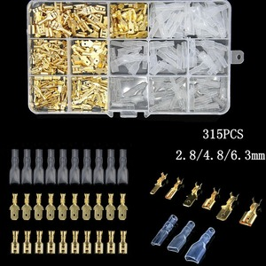 315Pcs Insulated Male Female Wire Connector 2.8/4.8/6.3mm Electrical Wire Crimp Terminals Spade Connectors Assorted Kit