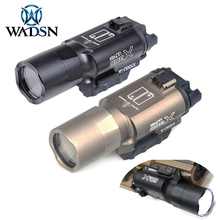 WADSN Surefir X300 울트라 전술 무기 손전등 권총 lanterna X300U 510 루멘 사냥 Scoutlight 맞는 20mm Picatinny 레일