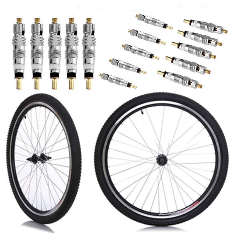 10pcs Valve Core Replacement Presta To Schrader French Air Pump Bicycle MTB/Road Bike Valve And Removal Tool Cycling Accessories