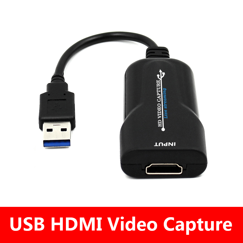 Mini Video Capture Card USB 2.0 HDMI Video Capture Grabber Phone Game HD Camera Capture Recording Box + PC Live Streaming