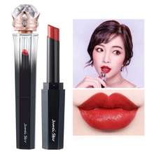Brick Red Lipstick Shimmer Matte Lips Makeup Waterproof Lip Stick Long Lasting Moisturizing Lip Tint Pigment rouge a levres