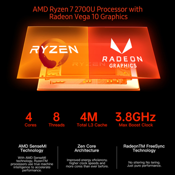 T-bao MN27 Metal Mini PC with AMD Ryzen 7 2700U CPU 16GB RAM 512GB M.2 NVNE SSD Radeon Vega 10 Graphics for Home Office 5
