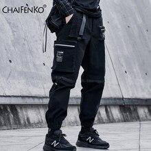 CHAIFENKO Carga Calças Hip Hop Homens Moda Streetwear Harajuku Preto Harem Pant Corredores Sweatpant Multi-Bolso Casuais Calças Dos Homens