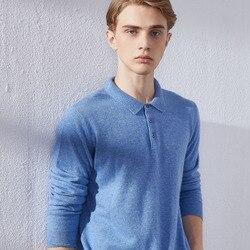 Зимние и осенние мягкие свитеры для мужчин одежда 100% кашемировые трикотажные пуловеры с воротником поло 7 цветов мужские джемперы
