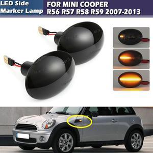 Светодиодный динамический боковой габаритный светильник s Somked, светильник с поворотным сигналом, боковая лампа для MINI COOPER R56 R57 R58 R59 2007-2013